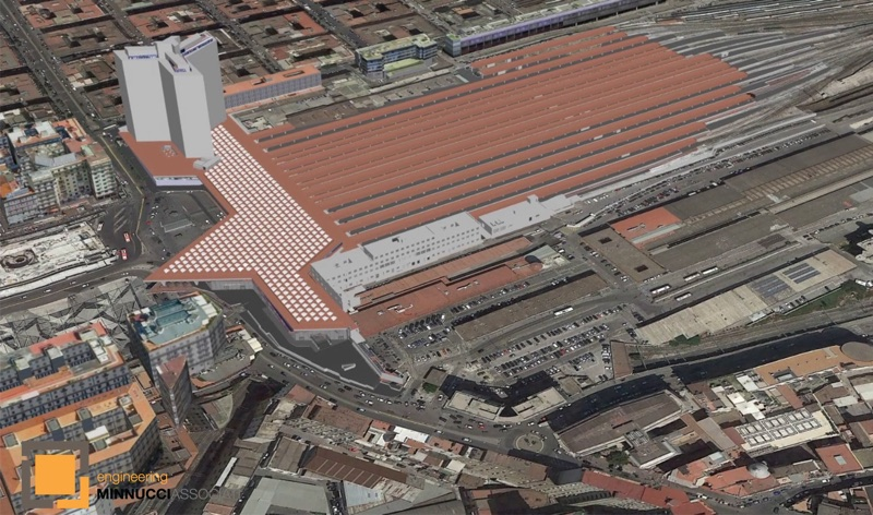 (Minnucci Associati developed digital models from laser scans to help operations and maintenance of Naples Station in Italy)
